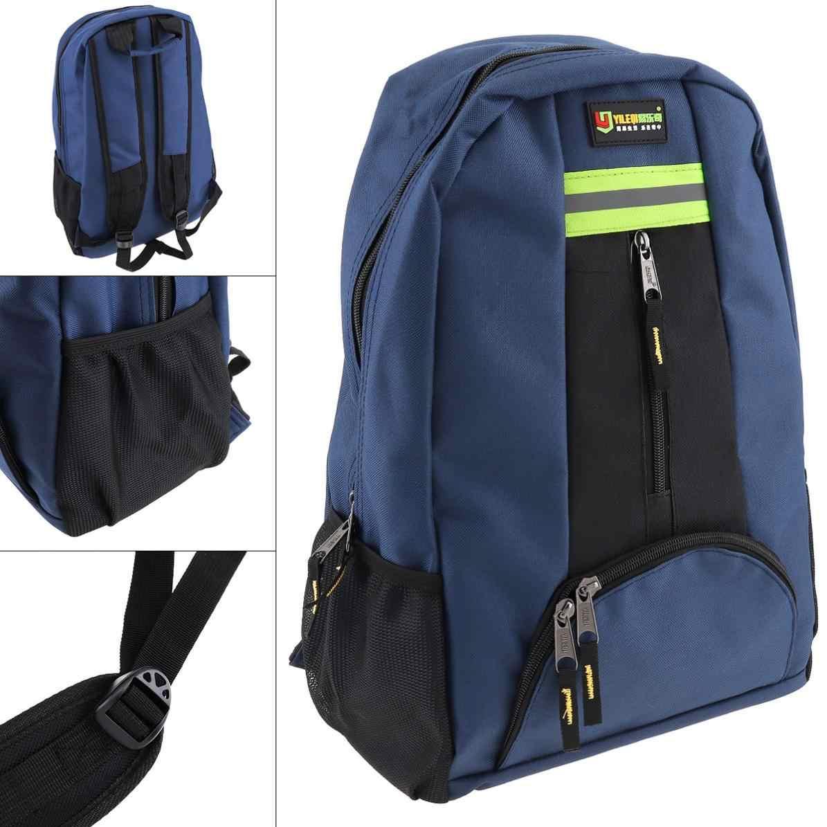 Многофункциональный Оксфордский водонепроницаемый рюкзак-сумка для инструментов с 12 карманами и лента безопасности для инструментов обслуживания