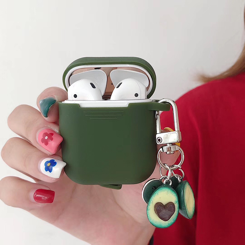 Soft Silicone Case for Airpods Accessories for I10 TWS Bluetooth Earphone Protective Cover Bag Cartoon Keychain Key Pendant