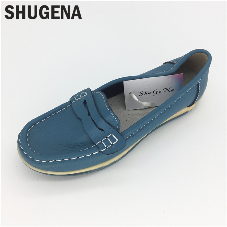 C58 Genuine Leather Shoes Fashion Loafers Women Shoes Handmade Soft Comfortable Flat Weave Solid Casual Shoes Women Flats women s shoes 2017 summer new fashion footwear women s air network flat shoes breathable comfortable casual shoes jdt103