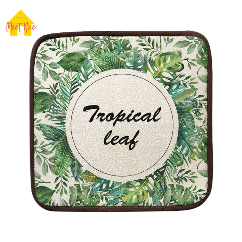 Meet Nice Summer cool Seat Pad Patio Solid 6 Colors Paiting Garden Square Indoor Dining On Office Chair Foam New Cushion 2018Hot