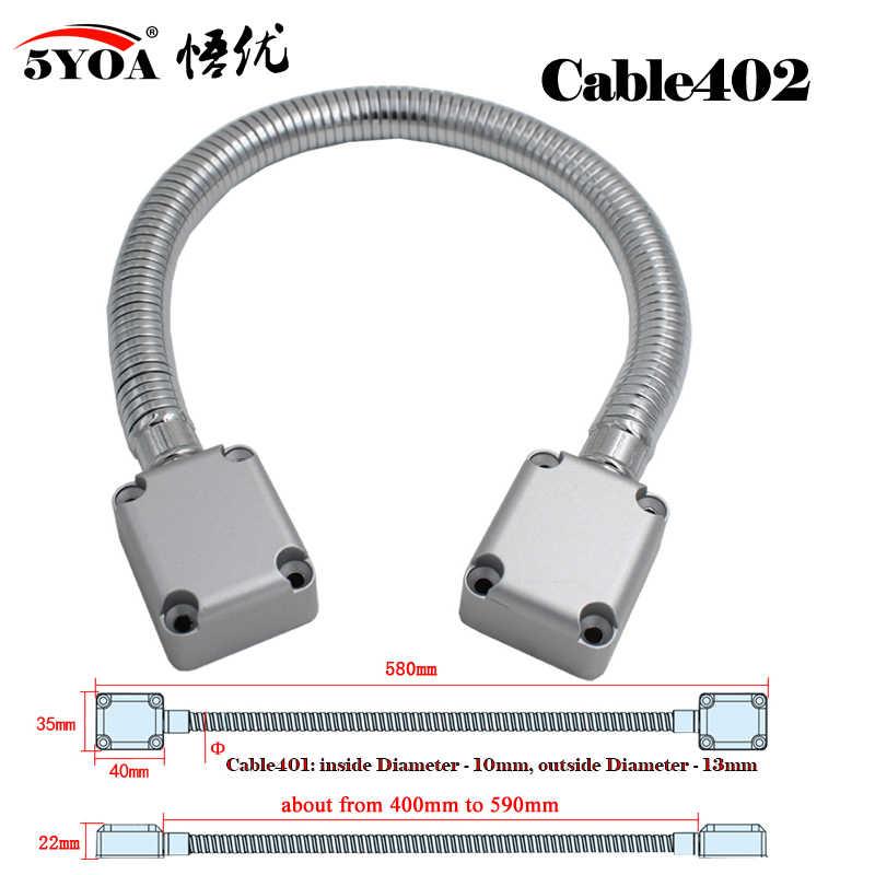 5yoa laço da porta elétrica de aço inoxidável exposta proteção de montagem manga cabo linha para fechadura da porta de controle