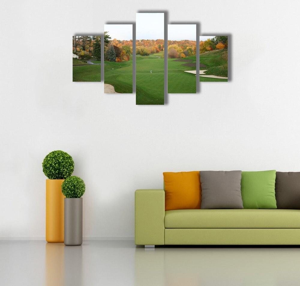 Canvas Art Poster Modern Home Decor Golf Course Hd Print 5