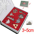 8pcs/set Anime Game The Legend of Zelda Weapons Pendants Heart Key The Triforce Vintage Keychain Charms Necklace Set Figure Toy