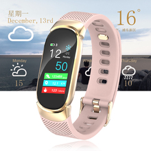 Smart bracelet women 2019 New Brand LIGE Healthy heart rate monitor sport mode smart watch the weather clock Relogio feminino
