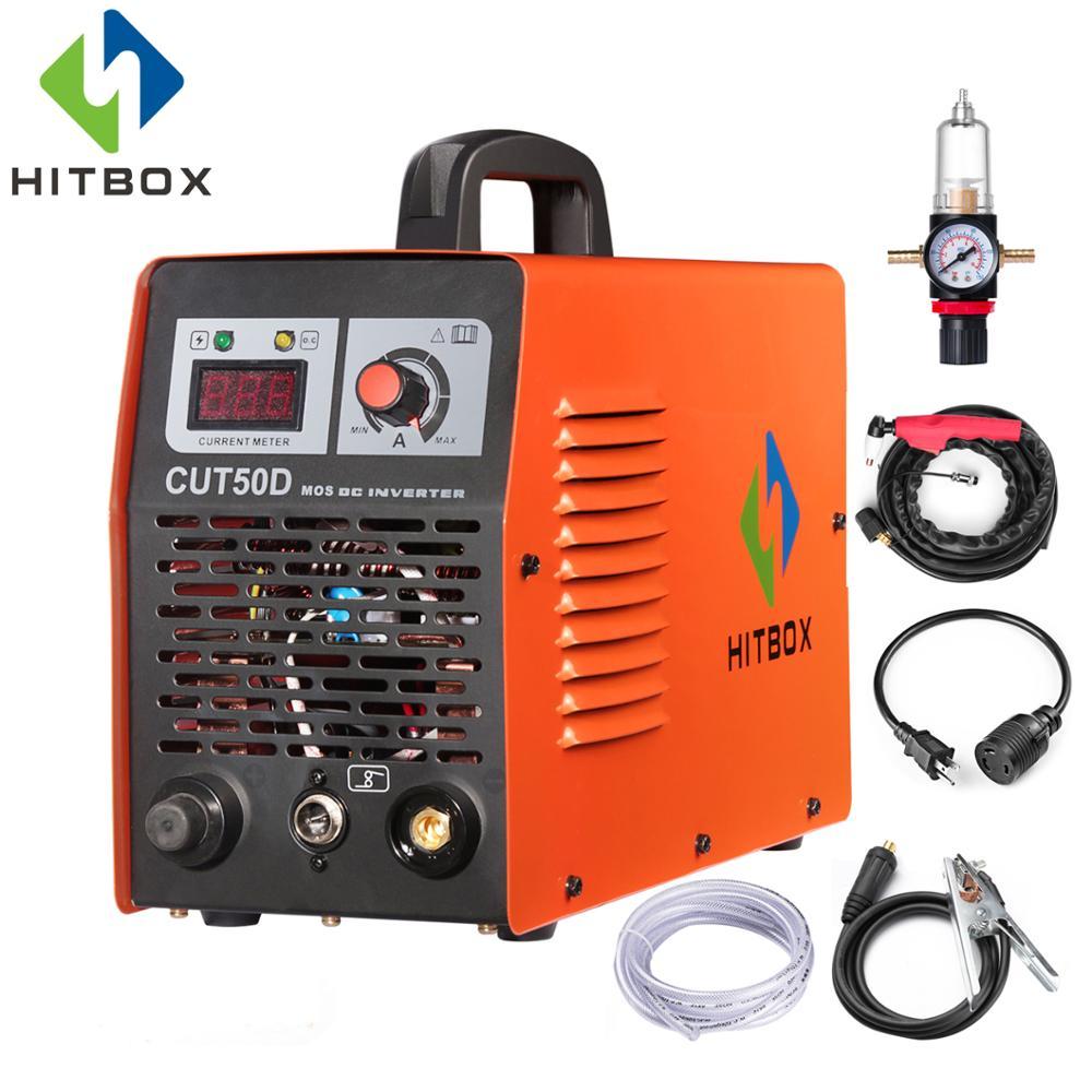 HITBOX плазменный резак для резки CUT50 двойной Напряжение газа плазмы сварщик 110 V 220 V Портативный Размеры режущие инструменты