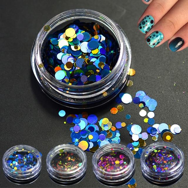 1g wysokiej jakości Mini okrągły cienki błyskotka projekt proszek do paznokci pyłu kobiety końcówki do paznokci dekoracji mieszane 1mm 2mm SAP1-12