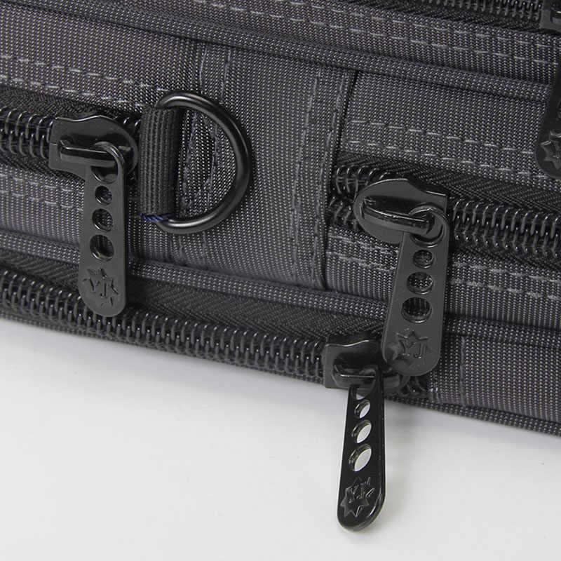 Business Briefcase Laptop Bag Oxford Cloth Multi-Function Waterproof Handbags Casual Portfolios Man Travel Shoulder Bags For Men