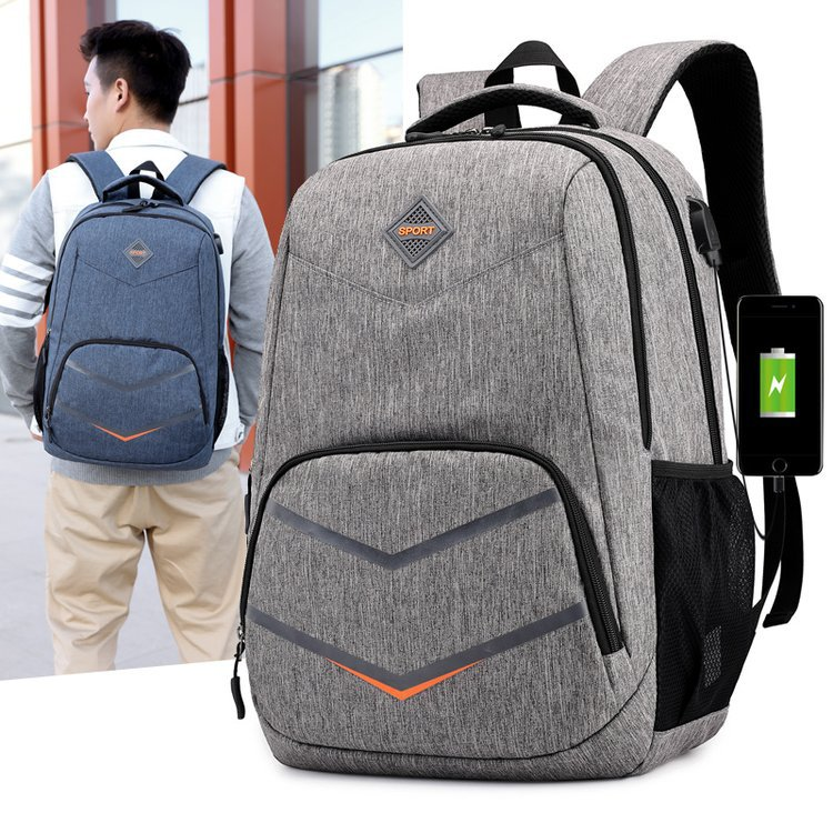 2019 JIULIN Shoulder Backpack Chao Men's USB Charged Backpack Computer Bag Large Capacity College Wind Waterproof Travel(China)