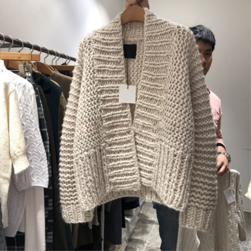 Women/'s Knit Sweater Long Coats Belted Thickened Hooded Cardigan Loose Jacket
