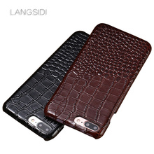 LANGSIDI Full Grain Leather For iphone 8 8/8 Plus 7/7 Plus 6/6 Plus Xs Max X Se 6S XS/XS Max Luxury covers for iphone X XS case