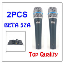 O envio gratuito de New Top qualidade de Estúdio 57 BETA 57A Clear Sound Handheld Karaoke Wired Mic Microfone Profissional