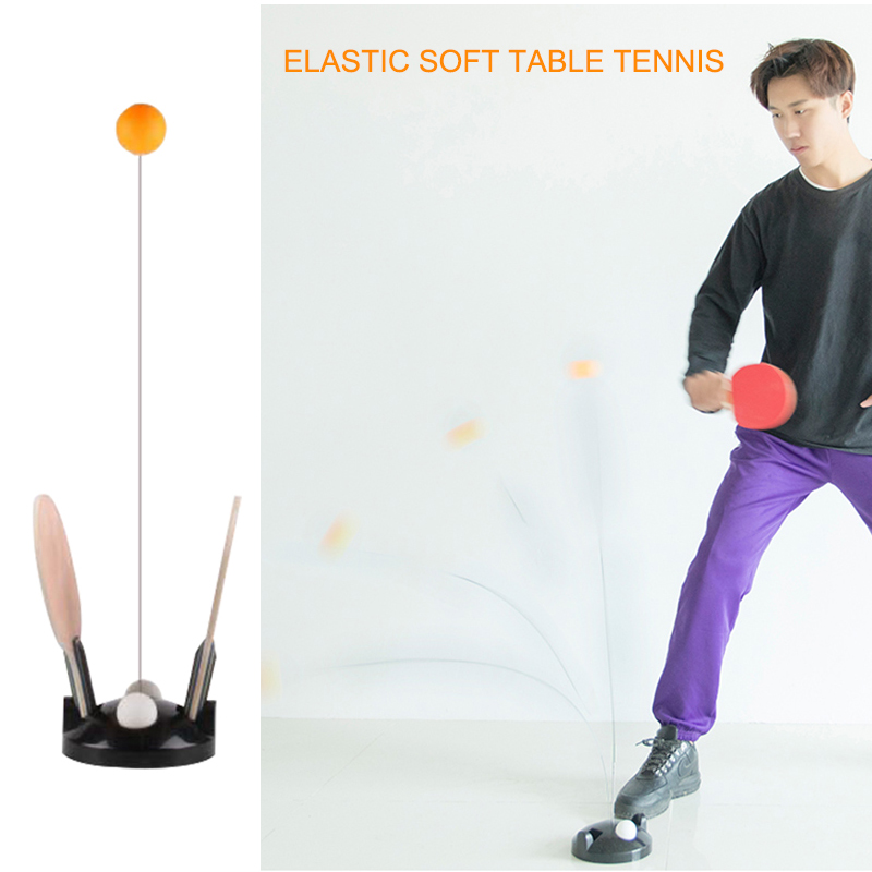 Bounce Flexible Shaft Table Tennis Training With Racket For Agility Relieve Pressure BB55