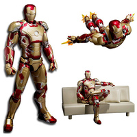 Super Hero Iron Man with Sofa Avengers Infinity War Cartoon Toy PVC Collectible Action Figure Models Toys Gift For Children #E
