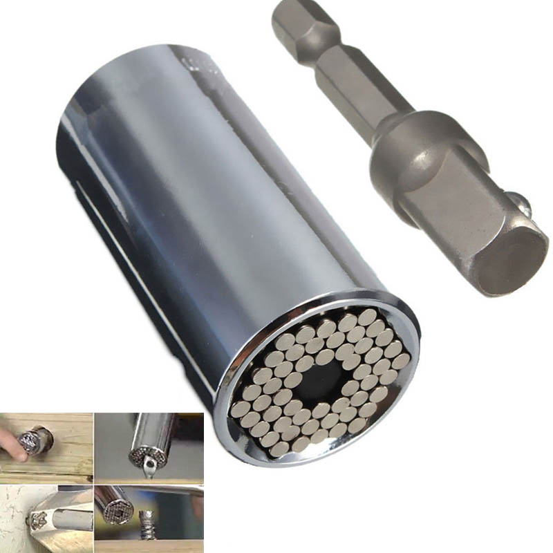 Universale Presa Gator Grip Multi-Funzione Una Mano Tool Set Kit di Riparazione Cacciavite Chiave Adattatore Auto Multiuso Utensileria