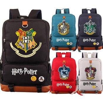 ee4185e16956 Магия Хогвартс Слизерин Гриффиндор для мальчиков и девочек школьная сумка  для женщин Bagpack подростков ранцы холст мужчин студент рюкзак