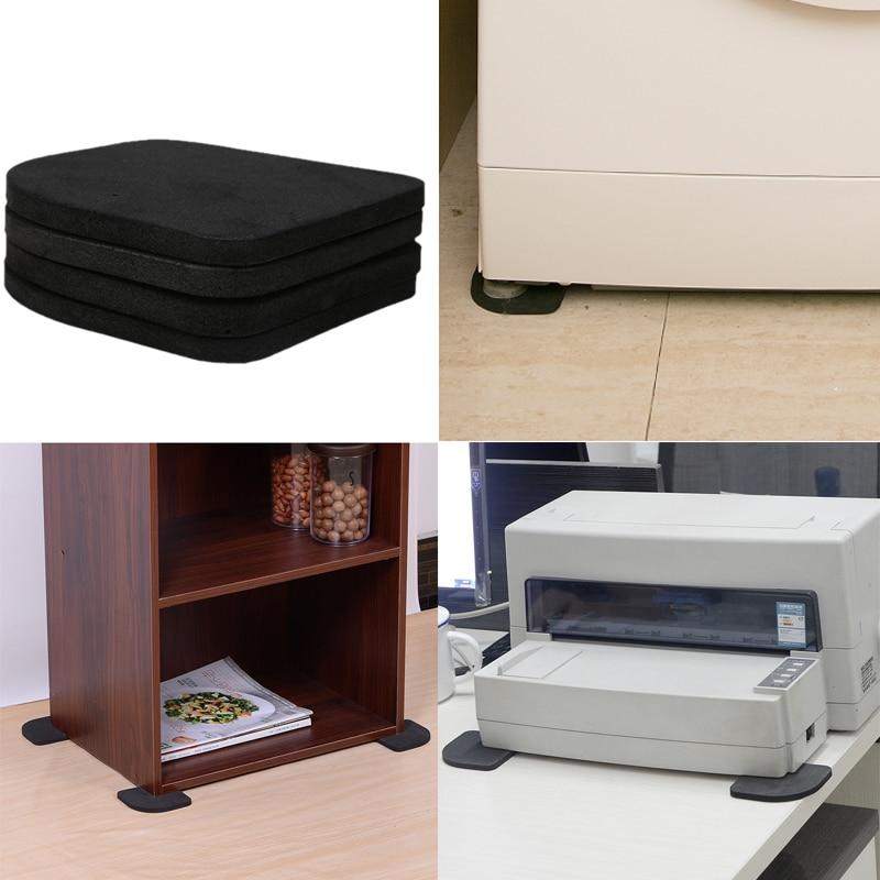 4pcs Multifunctional Refrigerator Washing Machine Anti-vibration Pad Mat Unequal In Performance