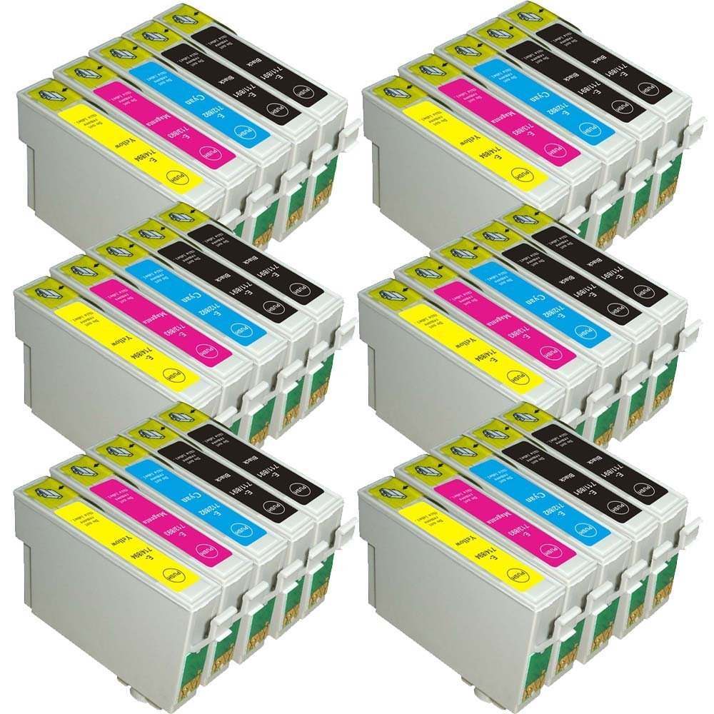 30x Compatible Ink Cartridge T0715  12x T0711 6x T0712/3/4 for Epson DX6000 DX6050 DX7000 DX7400 DX7450 DX8400 DX8450 30x Compatible Ink Cartridge T0715  12x T0711 6x T0712/3/4 for Epson DX6000 DX6050 DX7000 DX7400 DX7450 DX8400 DX8450