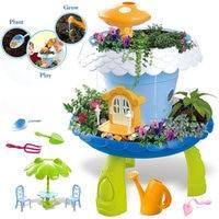 Soil+Seeds DIY Plant Growing Garden Villa Toys Educational Pretend Toys Magical Cottage Plant Toys Child Gift
