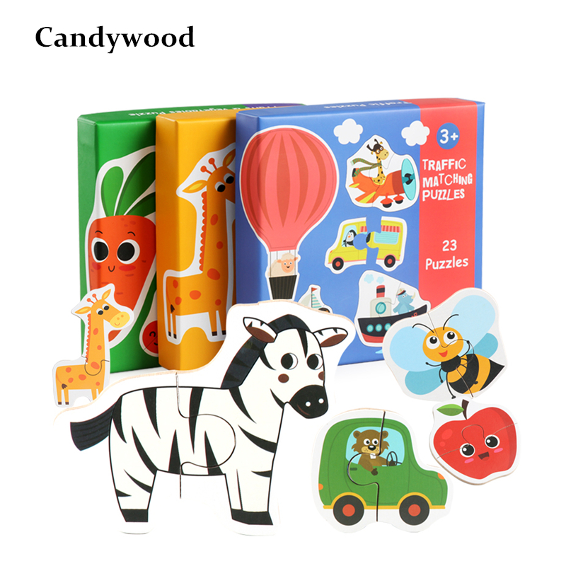 Children Large Matching Puzzle Games Early Learning Card My First Jigsaw Puzzle Toys for Children Kids