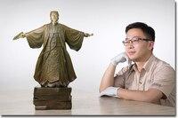 Ограниченная серия 50 см домашнего офиса Бизнес Военная Униформа политических деятелей милитаристской Чжу geliang Kong Ming фэн шуй Латунь Статуя