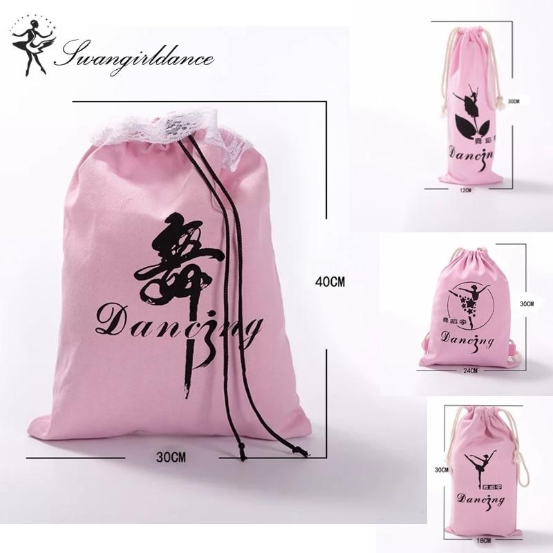 Children Ballet Dance Drawstring Backpack Bag Kids Sport Dancing Bag Accessories printing Oxford Double Ballet Bag AS8648