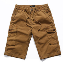 Cargo Shorts Men 2019 Summer Fashion Cotton Mens Casual Man Military Short Pants Male Loose Fitness Work Elastic