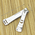 8 cm de Luz de Acero Inoxidable Nail Clipper Trimmer Toe Nails Art Herramienta