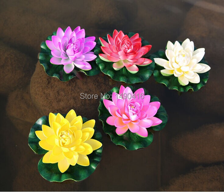 10pcs 17cm669inch artificial lotus flowers water lily for garden uses it can lead the way arches wedding flowers wedding car decoration flower corsage flower head flower balls garlands mightylinksfo