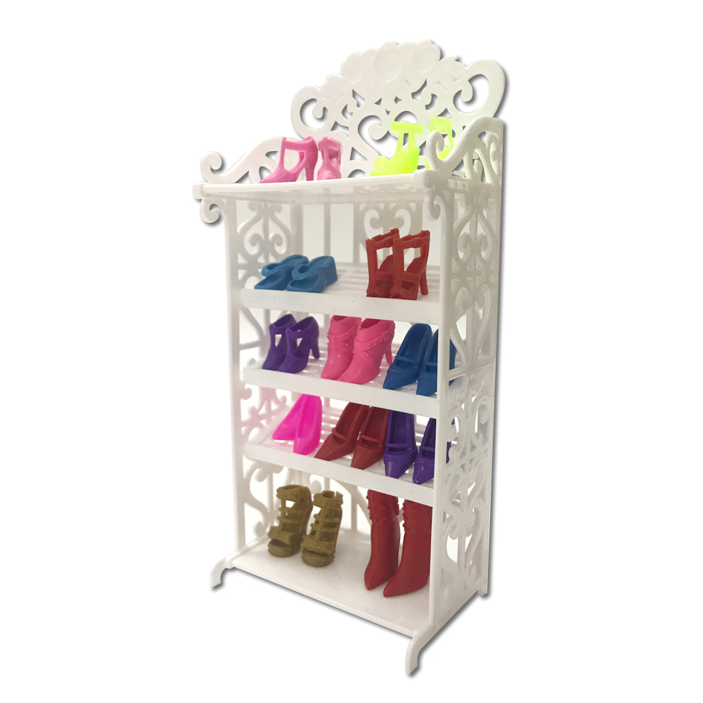 NK One Set 2018 Newest Doll Shoes Rack Playhouse Accessories For Barbie Doll Furniture Kids Best Gift For Girl's one set 2018 newest doll shoes rack playhouse accessories for barbie doll furniture kids toys best gift for girl s