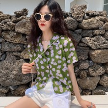 Floral Printed Korean Short Sleeve Blouse blusas Harajuku Women and Tops 2019 New Lady Casual Shirts Female Clothes