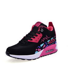 2016 Autumn/Winter Best Shoes For Running Women Height Increasing Luxury Running Trainers Air Cushion Athletic Shoes Sneakers