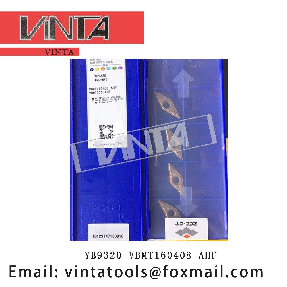 משלוח חינם באיכות גבוהה 10 pcs/lots YB9320 VBMT160408 AHF cnc קרביד הפיכת מוסיף חיתוך להב כלים|כלי הפיכה|כלים -