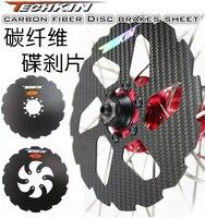 O disco de freio da bicicleta da fibra do carbono da produção 10954 da fábrica compatível com 44/48 no furo dobro 160mm|bicycle brake disc|brake disc|bicycle brake -
