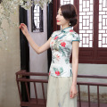New Arrival Summer Chinese Style Silk Women Tang Suit Tops Blouse Traditional Elegant Slim Shirt M L XL XXL XXXL A0098