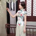 Nueva Llegada Del Verano de Seda de Estilo Chino juego de La Espiga de Las Mujeres Tops Tradicional de la blusa Elegante Camisa Delgada Ml XL XXL XXXL A0098