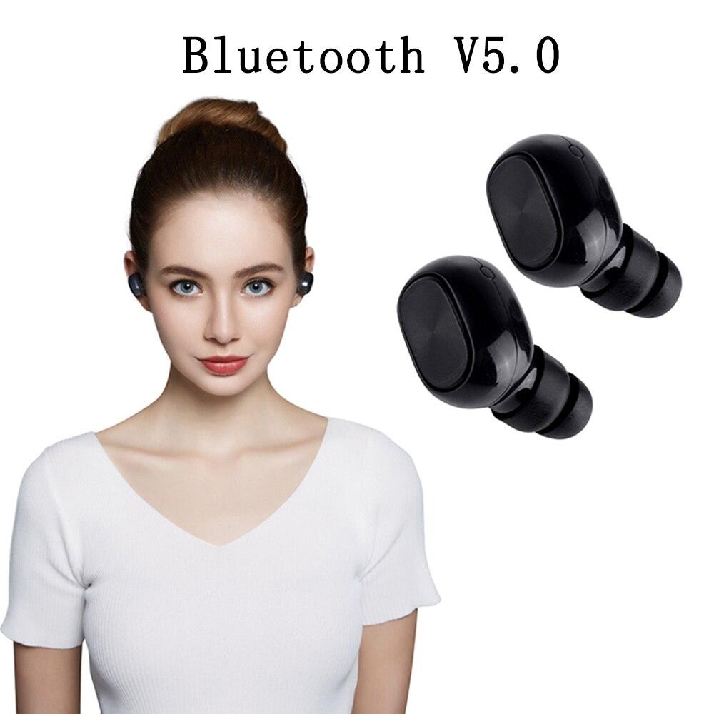Bluetooth 5.0 Waterproof Wireless Ear buds Earphone True Wireless BLuetooth Earphone Earbuds Stereo Noise Canceling Headphone pisen le004 bluetooth earphone