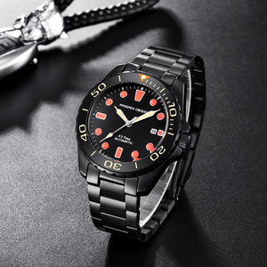 Image 3 - Pagani Mechanical Automatic Mens Watch Sport Black Fashion military waterproof Watch Men steel Male wristwatch Relogio Masculino
