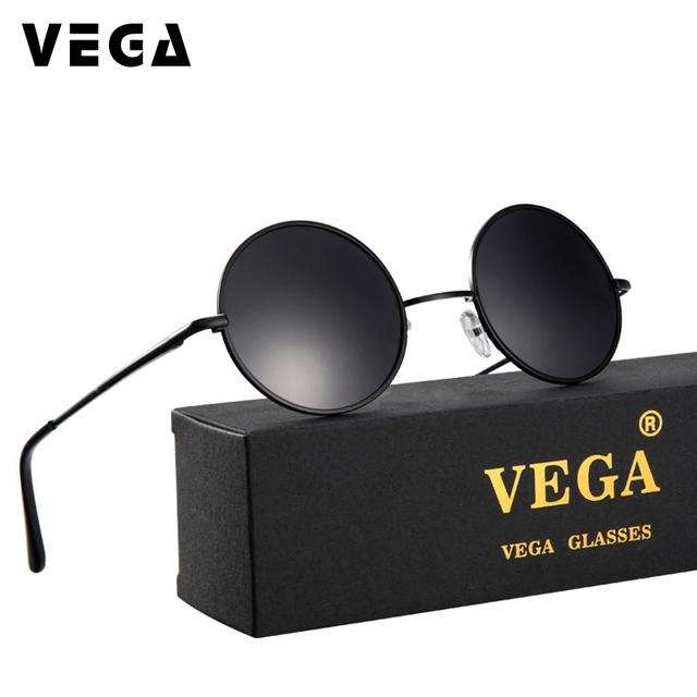 9a8900b8e1c2 VEGA Polarized 80s 90s Retro Round Glasses Men Women Metal Round Sunglasses  Vintage Small Hippie Glasses Circle Lenses 8024