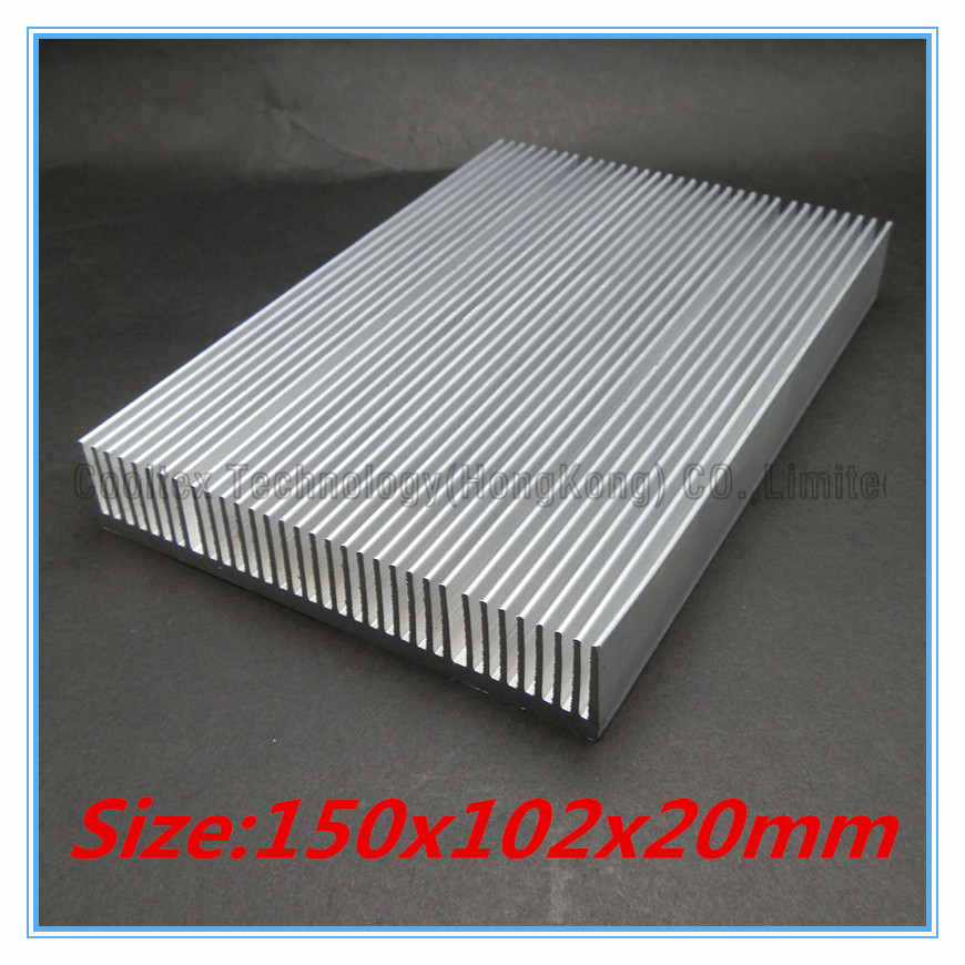 (High power) 150x102x20mm Aluminum HeatSink heat sink radiator for LED chip cooling 5pcs lot pure copper broken groove memory mos radiator fin raspberry pi chip notebook radiator 14 14 4 0mm copper heatsink