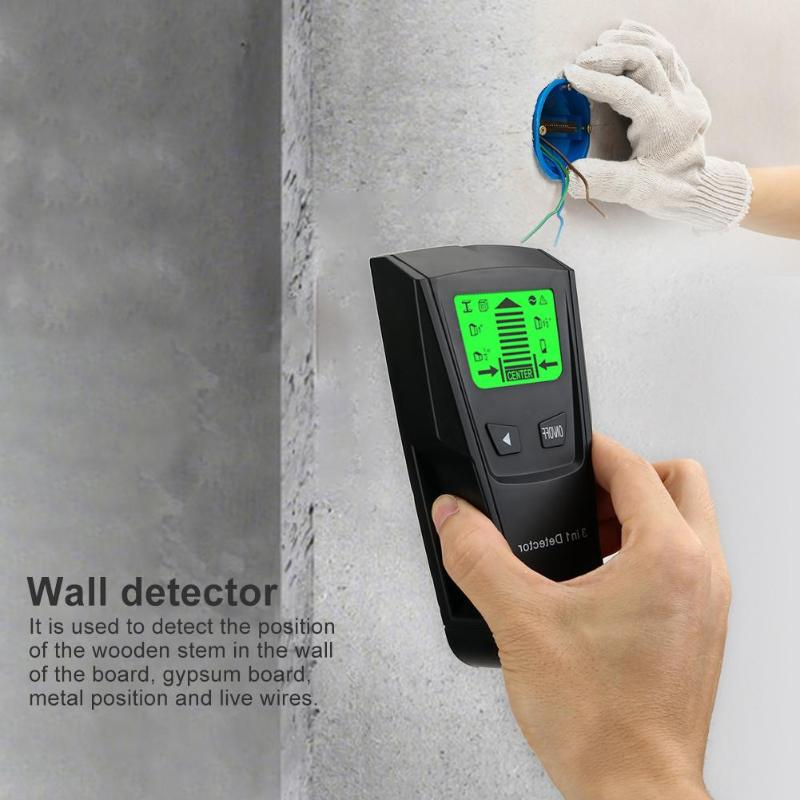 Image 3 - 3 In 1 Metal Detector Find Metal Wood Studs AC Voltage Live Wire Detect Wall Scanner Electric Box Finder Wall Detector-in Industrial Metal Detectors from Tools