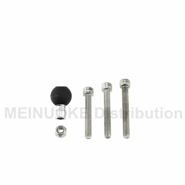 Motorcycle Handlebar Clamp Base 1 inch 25mm ball with M8 Screws for ram mount gopro action cameras