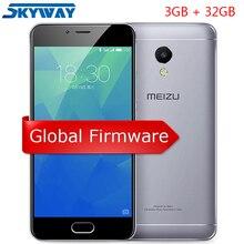 Orijinal MEIZU M5S 4G LTE Küresel Firmware cep telefonu 3 GB 32 GB Octa Çekirdek 5.2 inç HD IPS Parmak Izi hızlı Şarj