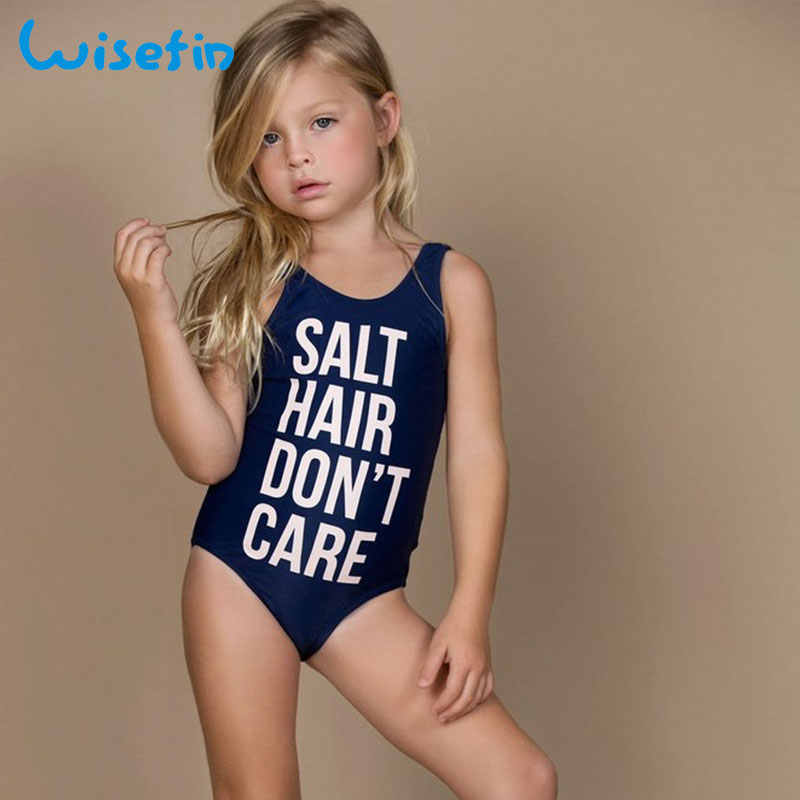ad003c649f978 Detail Feedback Questions about Wisefin Baby Girls Swimwear One Piece  Swimsuit Kids Swimsuit Letter Printing Beachwear Toddler Bikini Swim  Clothes Bathing ...