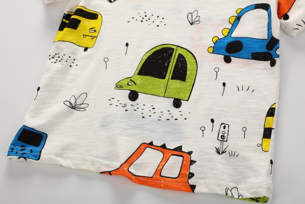 Chłopięce T-shirty dla dzieci 2018 Krótkie rękawiczki Letnie - Ubrania dziecięce - Zdjęcie 5