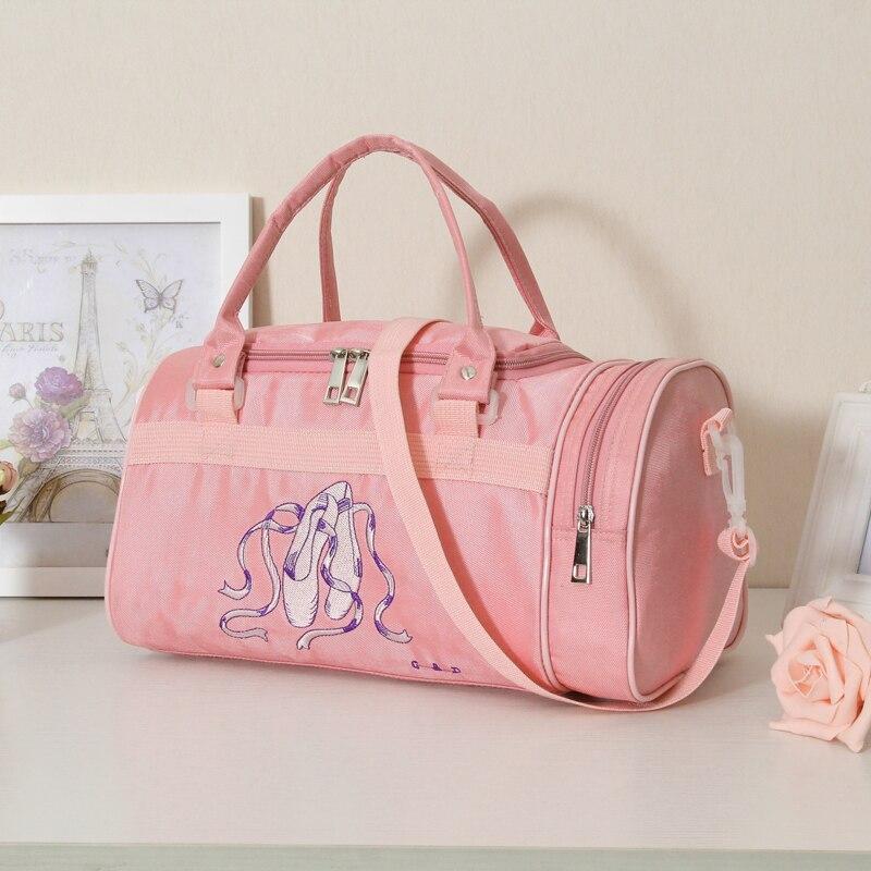 Discount Shoulder Ballet Dance Bags Pink Women Girls Ballet Sports Dance  Backpacks Rucksack Embroidered Gym Bags 4f8a48cafd214