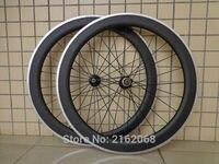 Nova fosco 700C 60mm clincher aro de bicicleta de estrada 3 K carbono rodados de bicicleta com superfície de freio da liga aero spoke espetos Grátis grátis
