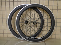 New 700C 60mm Clincher Rim Road Bike Matte 3K Carbon Bicycle Wheelsets With Alloy Brake Surface