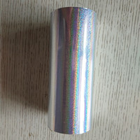 2rolls Lot Holographic Stamping Foil For Paper Or Plastic Silver Sand Color 16cm X 120m