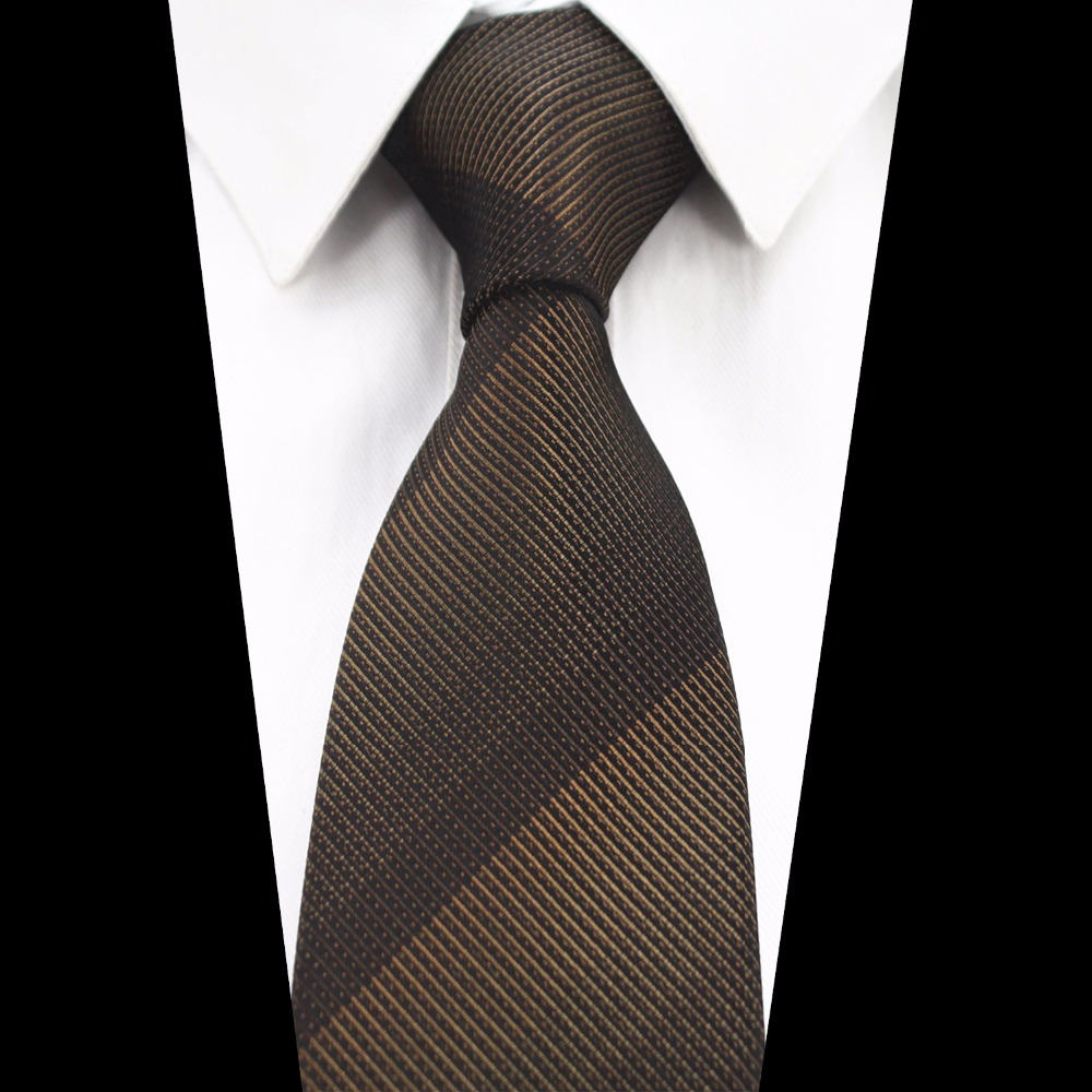GUSLESON New Men Tie Plaid Necktie For Business Red Gray Brown Gradient Striped Tie For Wedding Jacquard Woven Silk Neck Tie