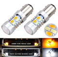 New 2X 1157 Dual Color Switchback White/Amber 5730 20SMD LED Bulb Turn Signal Lights Super Bright  Reverse Brake Backup Tail